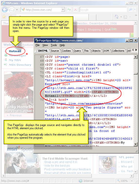 Click to view PageSpy 2.1.8 screenshot